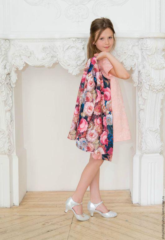 """Одежда для девочек, ручной работы. Ярмарка Мастеров - ручная работа. Купить Летнее пальто """"Цветочное царство"""". Handmade. Пальто, розы"""