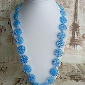 Работы для детей, handmade. Livemaster - original item Murano Glass beads - blue sky. Handmade.