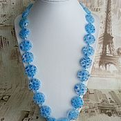 Украшения handmade. Livemaster - original item Murano Glass beads - blue sky. Handmade.