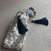 Очки ручной работы. Ярмарка Мастеров - ручная работа Блестящий чехол для очков и телефона. Handmade.