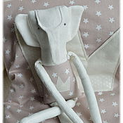 Куклы и игрушки ручной работы. Ярмарка Мастеров - ручная работа Маленький принц - слоник игрушка для малышей комфортер слоны. Handmade.