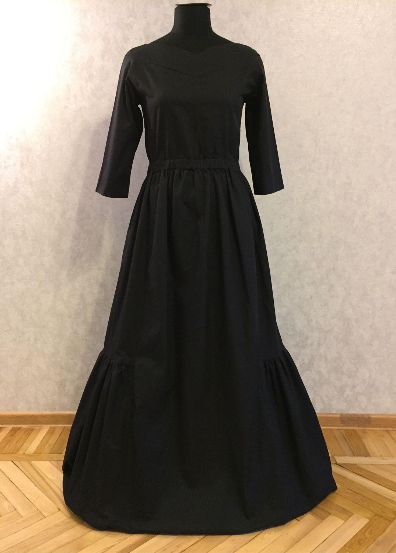 Вечернее платье в пол из хлопка, Платья, Москва,  Фото №1