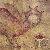 Картины и панно ручной работы. Ярмарка Мастеров - ручная работа Райские яблочки. Вещая птица. Алконост.. Handmade.