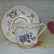"""Посуда ручной работы. Ярмарка Мастеров - ручная работа Чайная пара """"Безумное чаепитие"""". Handmade."""