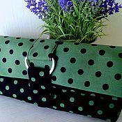 Сумки и аксессуары handmade. Livemaster - original item Clutch bag in polka dot. Handmade.