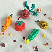 Куклы и игрушки ручной работы. Ярмарка Мастеров - ручная работа Овощи вязаные ( свекла, лук, морковка, огурец, помидор ). Handmade.