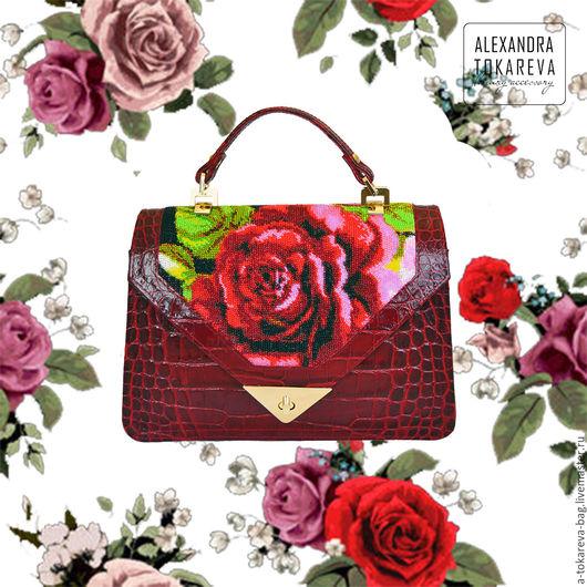 Женские сумки ручной работы. Ярмарка Мастеров - ручная работа. Купить Эксклюзивная авторская сумка вышитая бисером « Аutumn rose». Handmade.