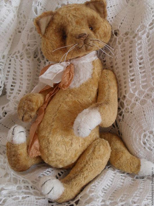 Мишки Тедди ручной работы. Ярмарка Мастеров - ручная работа. Купить Тедди котенок Рыжик. Handmade. Рыжий, тедди в подарок