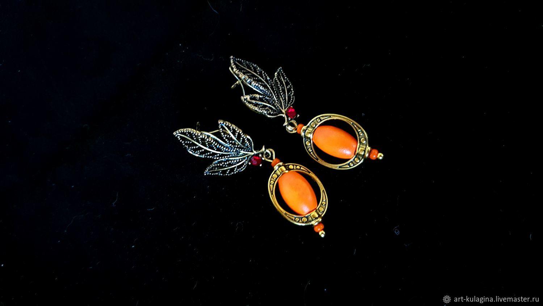 Earrings 'Bright autumn', Earrings, Moscow,  Фото №1