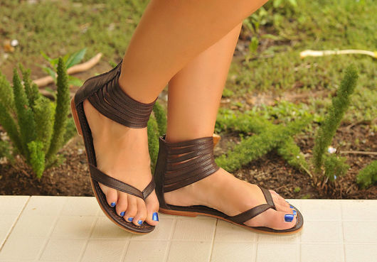 Обувь ручной работы. Ярмарка Мастеров - ручная работа. Купить Molle+. Воздушные женские кожаные летние сандалии.. Handmade. Сандалии