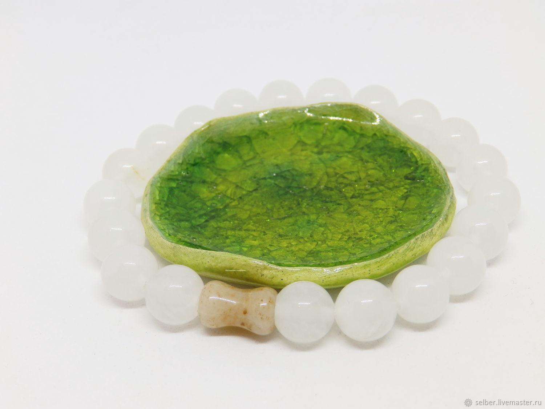 Aer White Quartz Bracelet, Bead bracelet, Gatchina,  Фото №1