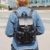 Сумки и аксессуары handmade. Livemaster - original item Black leather backpack
