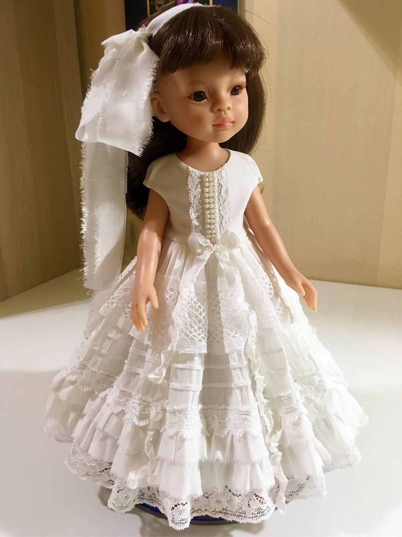 Paola Reina кремовое штапельное платье, Одежда для кукол, Обнинск,  Фото №1