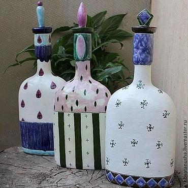 """Посуда ручной работы. Ярмарка Мастеров - ручная работа Керамическая бутылка """" Дизайнерская """". Handmade."""