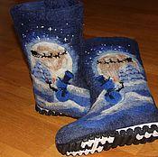 """Обувь ручной работы. Ярмарка Мастеров - ручная работа Валенки """"Ночная смена"""". Handmade."""