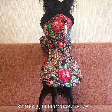 Товары для питомцев ручной работы. Ярмарка Мастеров - ручная работа Куртка/пальто для собак платка «НЕЗНАКОМКА». Handmade.