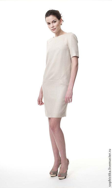 Платья ручной работы. Ярмарка Мастеров - ручная работа. Купить платье зауженное FW13-08. Handmade. Бежевый, платье на выход