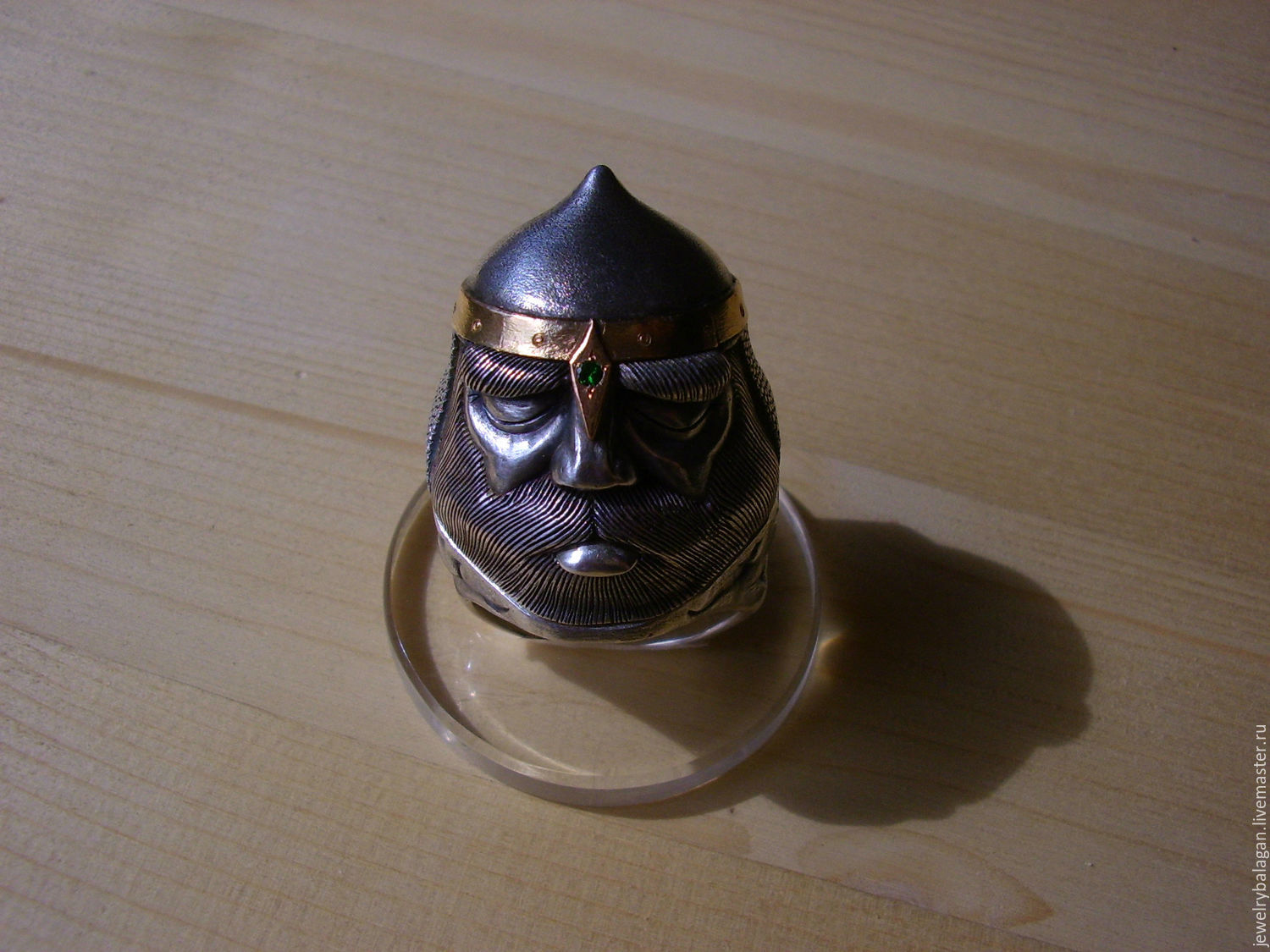 Heroic head - ring with a secret, Ring, Moscow,  Фото №1