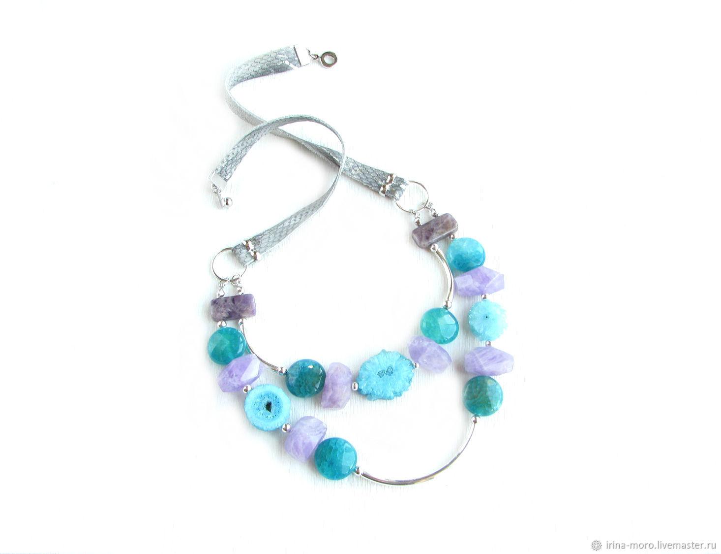 Unusual necklace, unusual decoration ' Spring mood', Necklace, Moscow,  Фото №1