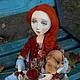 Коллекционные куклы ручной работы. Ярмарка Мастеров - ручная работа. Купить Кукла Лиза. Handmade. Рыжий, хлопок