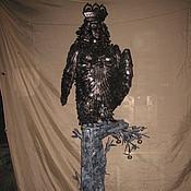 """Для дома и интерьера ручной работы. Ярмарка Мастеров - ручная работа Арт.17   Кованая скульптура """"Птица-женщина"""" (райская птица). Handmade."""