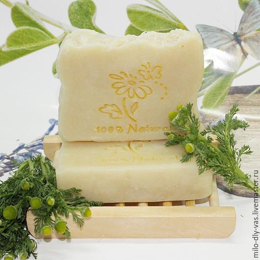 Шампуневое мыло `Ромашка` с пептидами шелка, мыло-шампунь с нуля