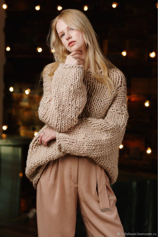 вьющийся объемные свитера крупной вязки спицами схема фото простую форму