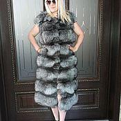 Одежда ручной работы. Ярмарка Мастеров - ручная работа жилет из меха чернобурки. Handmade.