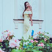 Одежда ручной работы. Ярмарка Мастеров - ручная работа Ажурное шёлковое платье Eletto с рюшами. Handmade.