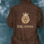 Одежда ручной работы. Ярмарка Мастеров - ручная работа Махровый халат с вышивкой. Handmade.