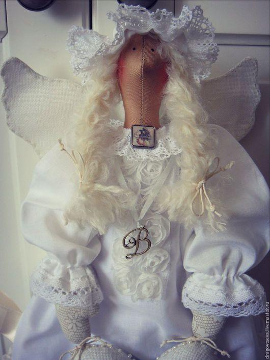 Куклы Тильды ручной работы. Ярмарка Мастеров - ручная работа. Купить Тильда Ангел на крещение.. Handmade. Принцесса