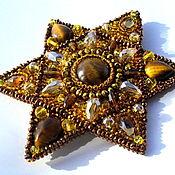 Украшения handmade. Livemaster - original item Brooch with stones