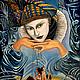 Фантазийные сюжеты ручной работы. Ярмарка Мастеров - ручная работа. Купить Картина маслом на холсте по мотивам картины Хохлачева Nocturne. Handmade.