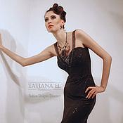 """Одежда ручной работы. Ярмарка Мастеров - ручная работа Вечернее платье в пол """"Звездная ночь"""". Handmade."""