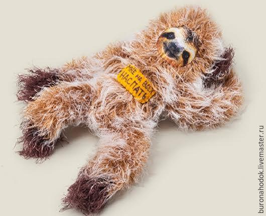 Игрушки животные, ручной работы. Ярмарка Мастеров - ручная работа. Купить игрушка Ленивец На всех наспать. Handmade.