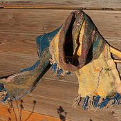 Аксессуары ручной работы. Ярмарка Мастеров - ручная работа Мужской войлочный шарф. Handmade.