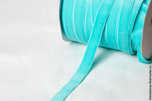 Другие виды рукоделия ручной работы. Ярмарка Мастеров - ручная работа. Купить Эластичная бархатная лента - резинка 322. Handmade.