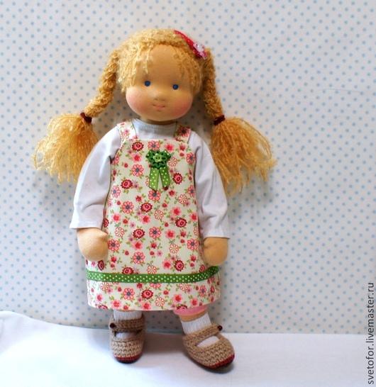 Вальдорфская игрушка ручной работы. Ярмарка Мастеров - ручная работа. Купить Асенька, 42 см. Handmade. Вальдорфская кукла, игрушки