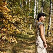 """Одежда ручной работы. Ярмарка Мастеров - ручная работа Авторское войлочное платье """" В осеннем  лесу """". Handmade."""