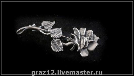 Броши ручной работы. Ярмарка Мастеров - ручная работа. Купить Брошь цветок. Handmade. Серебряный, брошь, брошь из серебра, серебро