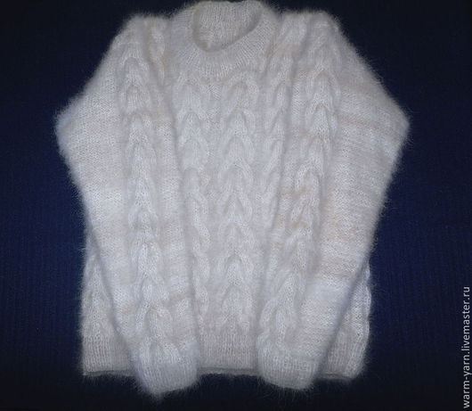 Кофты и свитера ручной работы. Ярмарка Мастеров - ручная работа. Купить Свитер женский из собачьей шерсти. Handmade. Свитер женский