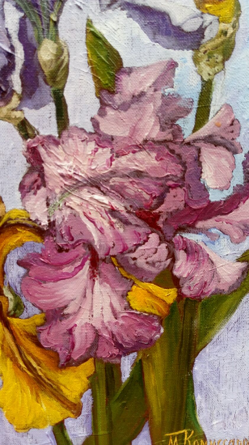 Copy of irises shop online on livemaster with shipping e8bi9com my flower paintings handmade copy of irises paint with love lotmarket my izmirmasajfo