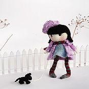 Куклы и игрушки ручной работы. Ярмарка Мастеров - ручная работа Куколка Зефика с черной собачкой. Handmade.