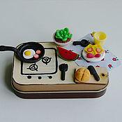 """Куклы и игрушки ручной работы. Ярмарка Мастеров - ручная работа Дорожный набор """"Кухонька"""". Handmade."""