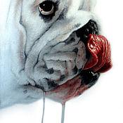 Картины и панно handmade. Livemaster - original item portrait oil painting. Dog.. Handmade.
