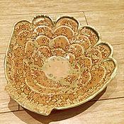 Посуда ручной работы. Ярмарка Мастеров - ручная работа Морская раковина блюдо керамическое ручной работы. Handmade.