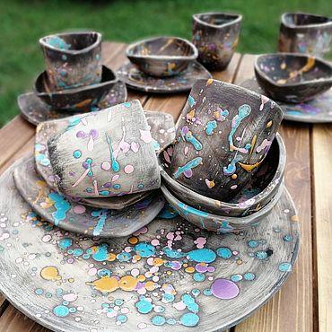 Посуда ручной работы. Ярмарка Мастеров - ручная работа Магический Сервиз, керамическая посуда ручной работы. Handmade.