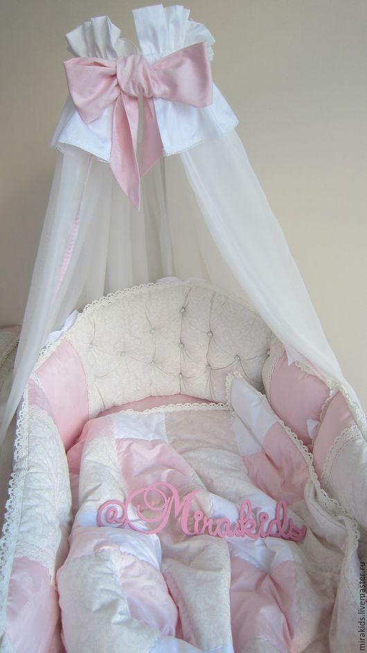 Детская ручной работы. Ярмарка Мастеров - ручная работа. Купить комплект в детскую кровать. Handmade. Комбинированный, бортики, handmade