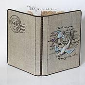 """Обложки ручной работы. Ярмарка Мастеров - ручная работа Вышитая обложка для книги """"Ласточкина почта"""". Handmade."""