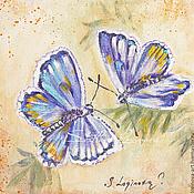 """Картины ручной работы. Ярмарка Мастеров - ручная работа Весна -серия """"Драгоценные Бабочки""""-картина маслом. Handmade."""